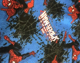 Spiderman Flannel Fabric by the Yard