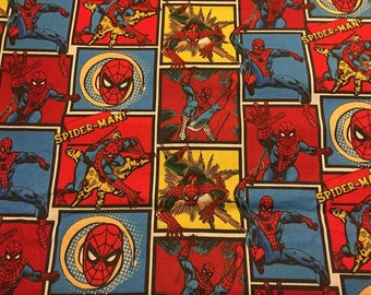 Spiderman Cotton Fabric by the Yard