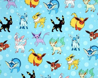 """Valance, Curtain Panel, Matching Pillow Cover """"Pokemon"""""""