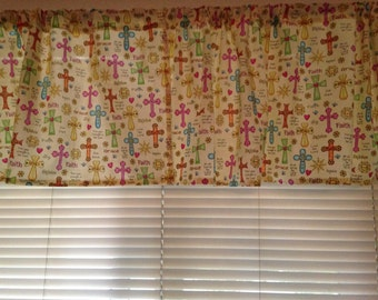 "Valance 42""X15"" panel ""Cross"""