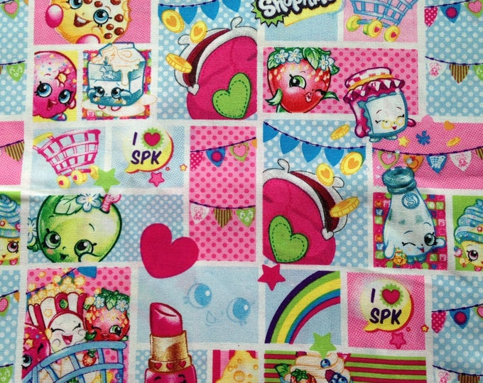 """Valance, Curtain Panel, Matching Pillow Cover """"Shopkins"""""""
