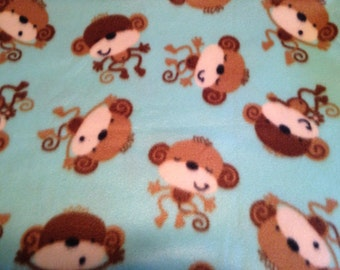 Fleece Monkey Pillowcase