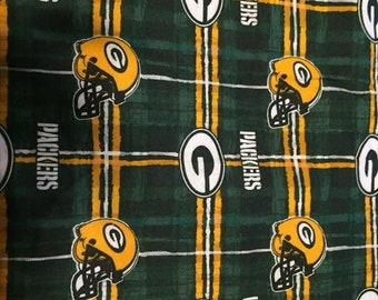 Green Bay Packers Flannel Fabric by the Yard ae284284e