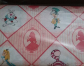 Alice in Wonderland Lined Placemat, Bowl Mitt, Hot Pad, Matching Lined Table Runner