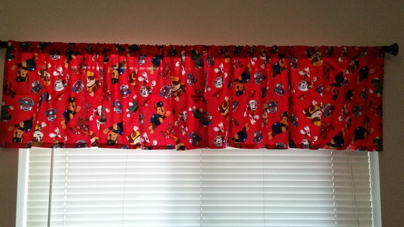 Curtain Panel Valance Tie Backs Paw Patrol Pillow Cover