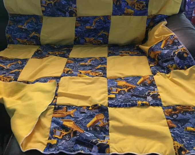 "Quilt, Baby, Throw, Twin, Full, Queen, King,  Pillow Cover,  Valance, Curtain Panel ""Machines"""