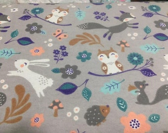 Baby Animals Flannel Fabric by the Yard