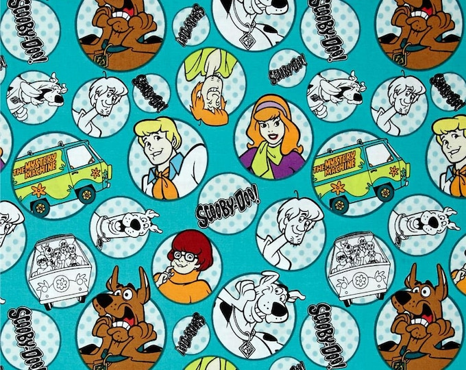 Scooby Doo Cotton Fabric by the Yard