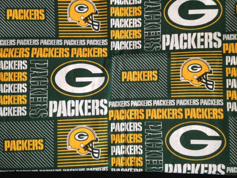Green Bay Packers Fabric By The Yard Etsy