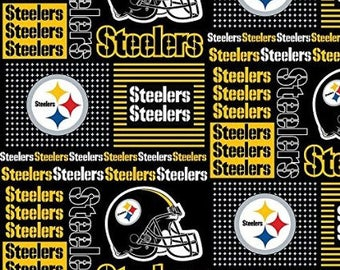 "Valance, Curtain Panel, Matching Pillow Cover ""Pittsburgh Steelers"""