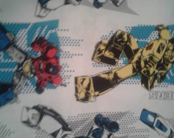 "Valance, Curtain Panel, Matching Pillow Cover ""Transformers"""