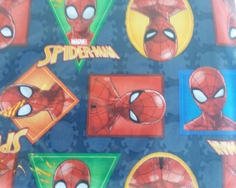 "Valance, Curtain Panel, Matching Pillow Cover ""Spiderman"""