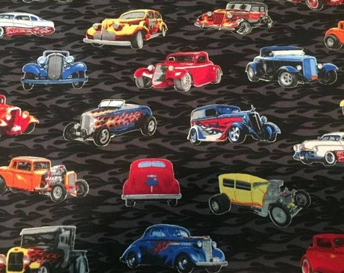 Hot Rods Lined Placemat, Bowl Mitt, Hot Pad, Matching Lined Table Runner