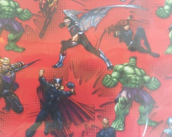 "Valance, Curtain Panel, Matching Pillow Cover ""Avengers"""