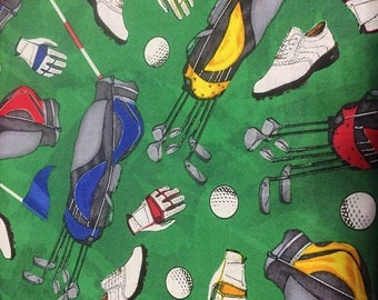 Golf Cotton Fabric by the Yard