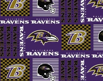 "Valance, Curtain Panel, Matching Pillow Cover ""Baltimore Ravens"""