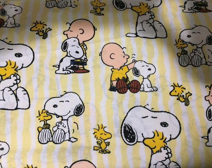 Snoopy Cotton Fabric by the Yard