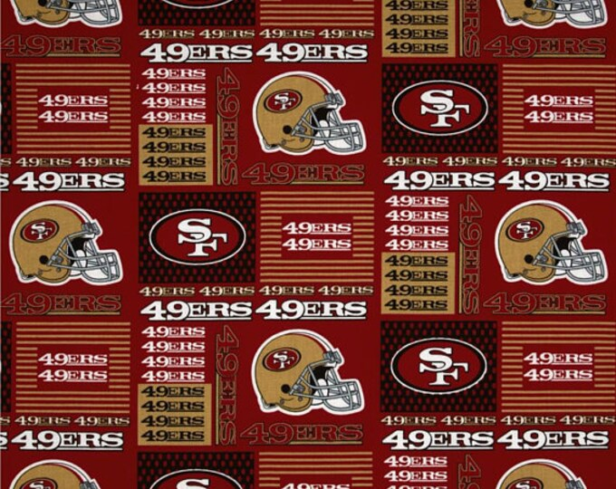 San Francisco 49ers Fabric by the Yard