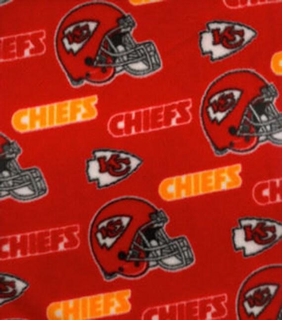 c5ae6c21 Kansas City Chiefs Fleece Fabric by the Yard