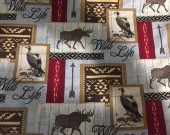 Wildlife Flannel Fabric by the Yard