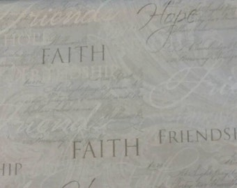 "Valance, Curtain Panel, Matching Pillow Cover ""Faith"""