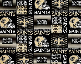 "Valance, Curtain Panel, Matching Pillow Cover ""New Orleans Saints"""