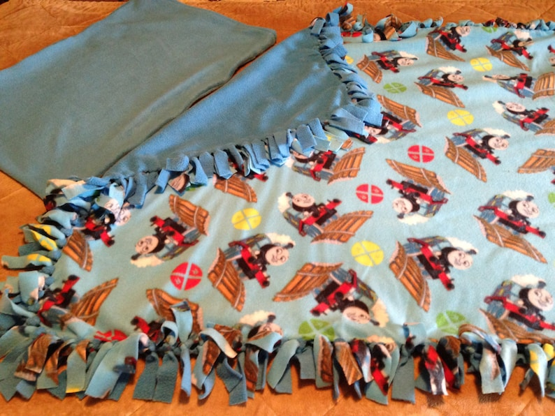Handcrafted Fleece Thomas the Tain Blanket Sets