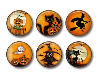 Halloween Magnets, Halloween Magnet Set, Fridge Magnet, Refrigerator Magnets, Magnet Set