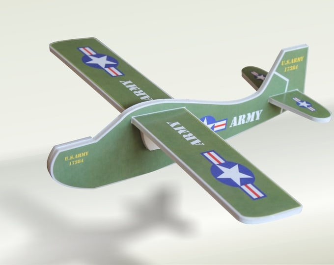 DIY Air plane gift toy US Army Glider Styrofoam Military aeroplane Aviation flight Airplane birthday party Model air aircraft Military toys