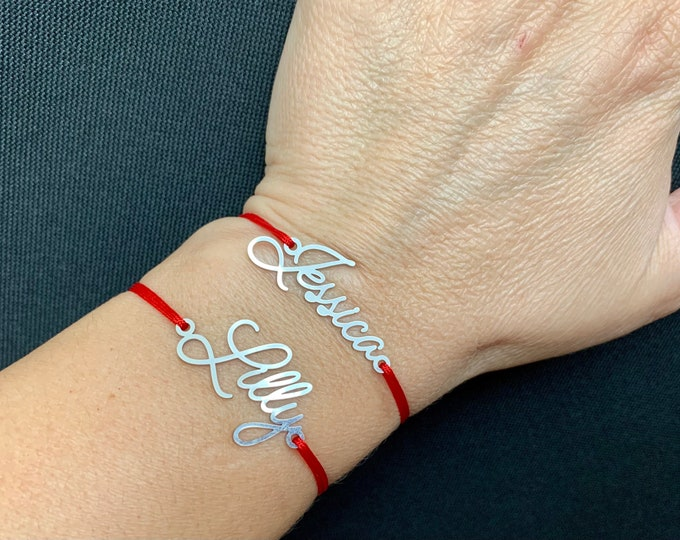 Custom Name Bracelet Personalized Name Jewelry Stainless Steel Gift for Her, Mom, Kids Handmade Bracelet for Women & Men Customize Your Name