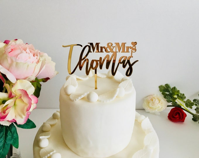 Personalized Name Infinity Wedding Cake Topper Custom Toppers Love Sign Decor