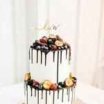 Personalized Name Cake Topper Custom Any Name Cupcake Bridal Wedding Cake Decoration Calligraphy Customized Birthday Party Baby Shower Decor
