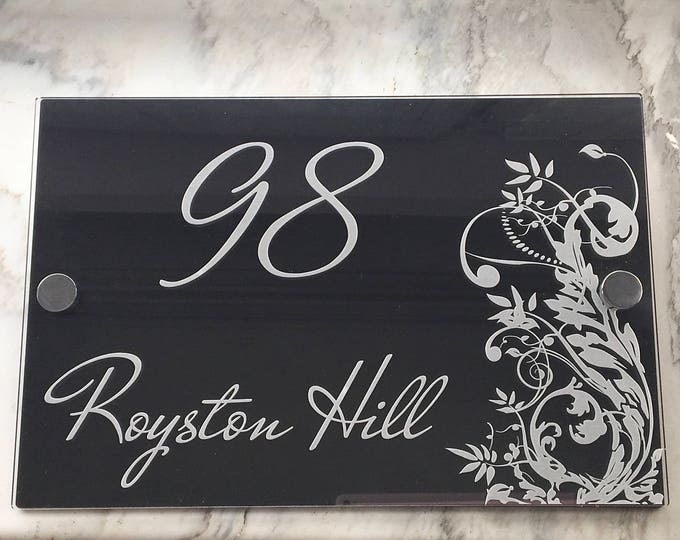 Personalised Acrylic House Outdoor Sign Modern Door Plaque Address Clear Acrylic Custom Front Door Sign Number Home Street Name Wall Decor