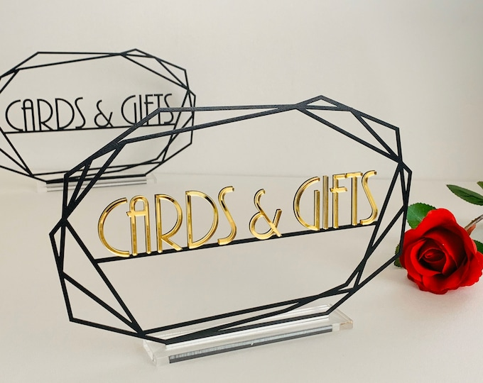 Cards & Gifts Table Signs Custom Wedding Sign Freestanding Modern Table Centerpiese Personalized Laser Cut Metal Sign Reception Event Decor