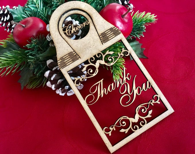 Wine Bottle Gift Tags Personalized Gift for Dad Gifts under 10 Wooden Wedding Favor Hanging Wine Bottles Champagne Tags Custom Wine Bottle