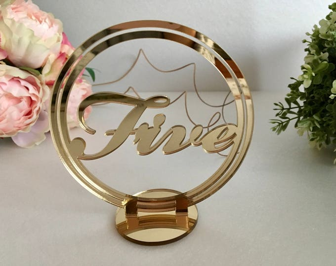 Round wedding table numbers Freestanding script number stands Wedding signs Seating plan Number holders Custom Centerpieces Sweetheart decor