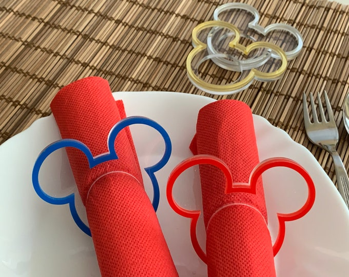 Mickey Napkin Rings Minnie Mouse Ears Table Decorations Birthday Party Disney Decor Napkin Holders Mickey Wedding Mickey Themed