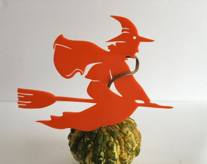 Halloween Witch Mobile Witch Halloween Party Decorations Witch in Flight on Broomstick Hanging Witch Spooky Black Orange Halloween ornament