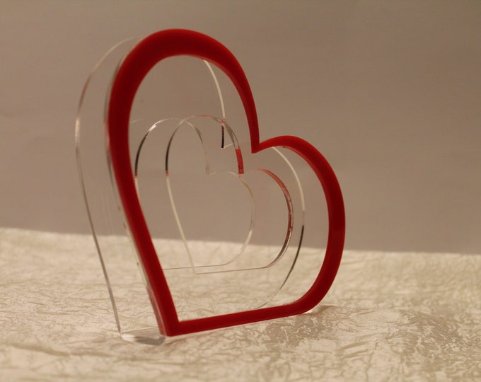 Acrylic napkin holders Housewarming gift Wedding accessories Red heart holder Table Decoration Kitchen Decor Tableware Birthday table decor