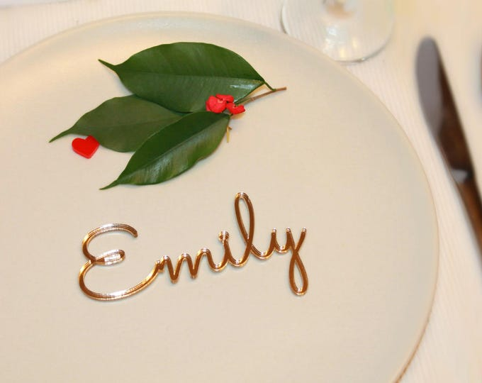 Personalized place cards Place name settings Guest names Acrylic wedding Laser cut table names Wedding signs Wedding invitation Escort cards