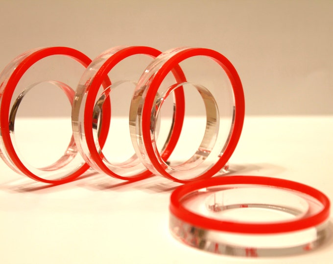 Red napkin rings Dinner party centerpiece Wedding napkin ring holders Table decor Circle napkin rings Mother's day gift Table decorations