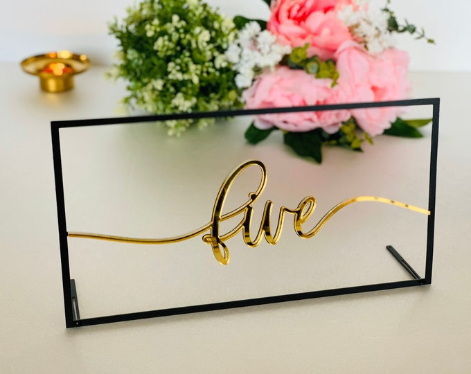 NEW Wedding Table Number Holders Centrepiece for Weddings Reception Decor Wedding Sign Calligraphy Luxury Modern Decorations Elegant Numbers