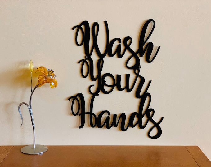 Wash Your Hands Bathroom Sign Stay Healthy Custom Metal Sign Metal Wall Art Personalized Wall Hanging Door Hanger Stay Safe Gifts Home Decor