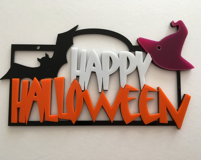 Happy Halloween Sign Spooky Door Sign, Pumpkin Sign Halloween Decoration Halloween Door Sign Holiday Sign Halloween Gift Halloween ornaments