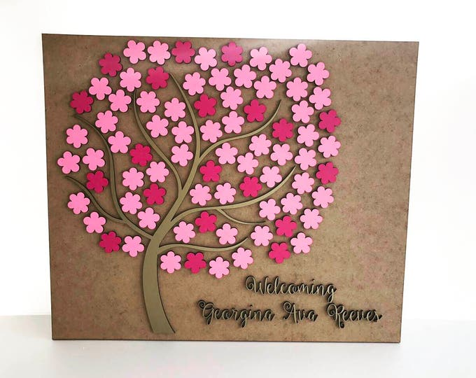 Personalized wedding rustic guest book 3D Wooden Custom guestbook Alternative flowers guestbook Unique wedding tree guest book Wedding signs