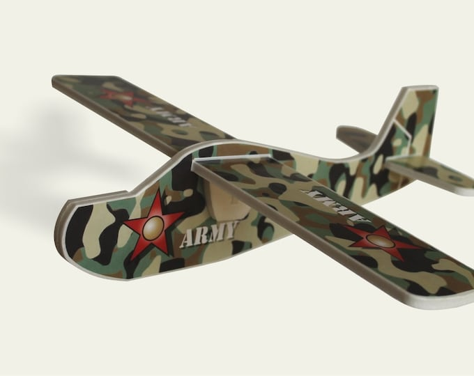 Camouflage Airplane, Aeroplane Mobile US army Handmade Toys Plane Military Aviation Gift for Boy Birthday Party Model Kit Plane Lover Gift