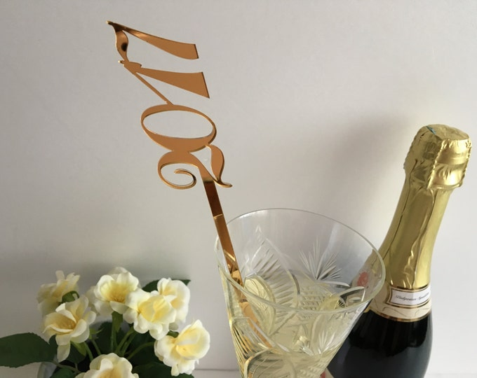 New year party Christmas decor Hen party 2020 party Table centerpiece Drink stirrers Cocktail party decoration New years eve Happy new year