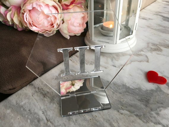 Hexagon Wedding Table Numbers Roman Numeral Geometric Shape Silver Gold Mirror Signs Clear Acrylic Event Centerpieces Party Decor Engraved