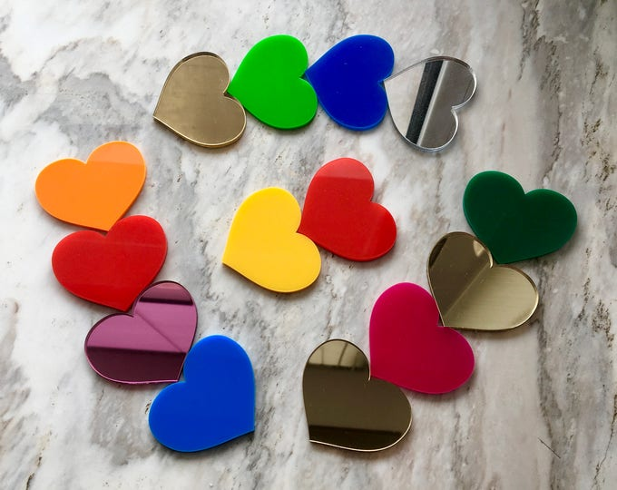 Laser Cut Acrylic Mirrored Hearts Love Table Confetti Crafts Personalised Couples Wedding Valentines Day Decor Bridal Shower Custom Engraved
