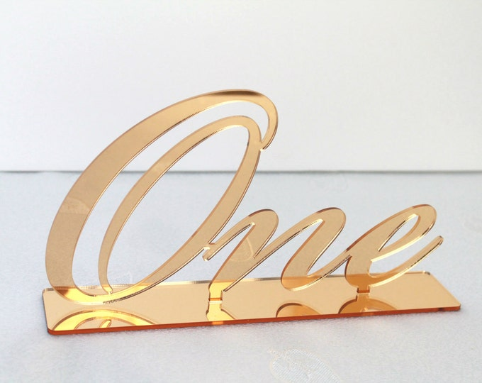 Large Table Script Numbers Wedding Big Acrylic Number Holders First Birthday Sign Word Number Cursive Wedding Decorations Freestanding Base